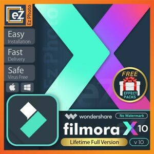 Wondershare Filmora X v10.0.6.8 + Effects Pack✔️Lifetime activated✔️ Fast delive