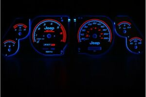 Jeep Grand Cherokee 1995 -1999 design 1 glow gauges dials plasma dials kit tacho