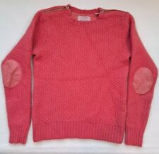 Ted Baker London Womens Angora Cashmere Blend Pink Sweater Elbow Patches Sz 2