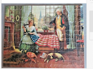 Vintage Viking Wayne Jig-A-Puzzle #21X Birth Of The Flag Complete,1940s