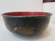 ancienne coupe bol papier maché carton bouilli 19eme napoleon III decor japonais