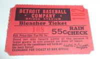 Antique 1940's DETROIT TIGERS Briggs Stadium Baseball Ticket Stub   See Photos