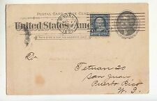 1895 U.S.A.Postal STATIONERY NEW YORK to PUERTO RICO-c.1+c.1-Back Postmark-f499