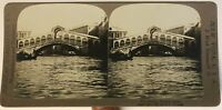 Venezia Pont Rialto Italia Foto Stereo P49p1n Vintage Analogica 1901