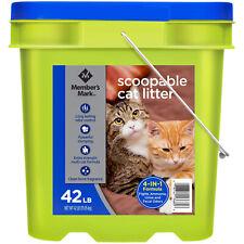 Member's Mark 4-in-1 Formula Scoopable Cat Litter, 42 lbs.
