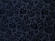 Black Symphony Floral Taffeta Flock Vintage Craft Couture Gothic Dress Fabric