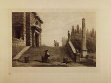 Eau-forte  par P.LAFOND, Ruines d'après H.ROBERT