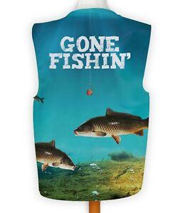 Gone Fishing Blue Fish Shark Fancy Dress Waistcoat