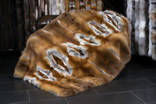 516 European Red Fox Fur Blanket Genuine Fur Throw Real Fox Fur Quilt Fur Plaid