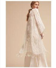 BHLDN Concordia Burnout Velvet Wrap ONE SIZE Ivory Women's Wedding Topper