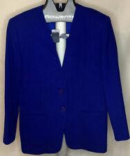 Pendelton Womens Size 10 Blue Wool Collarless Blazer Vintage