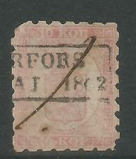 Finland 1860 Coat of Arms 10k rose on pale rose (5) used