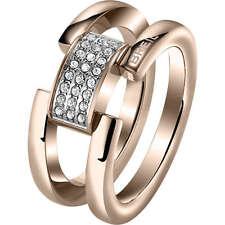 BREIL gioielli anello donna Breilogy rosè con pavè cristalli Swarovski Misura 14