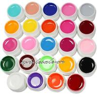 24 PCS Solid Pure Mix Color UV Builder Gel Acrylic Set for Nail Art Tips