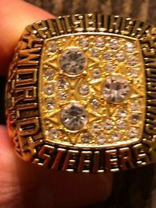 1978 TERRY BRADSHAW COMMEMORATIVE CHAMPIONSHIP RING STEELERS SIZE 11
