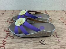 FitFlop Rosita Raffia Flower Womens Size 9 Sandals Slides Slipper Flipflop