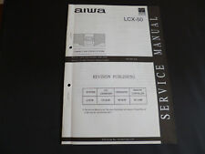 ORIGINALI service manual AIWA lcx-50