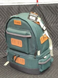 NOS Vintage Canon Camera Professional Backpack 1 - Canvas Travel Backpack Green