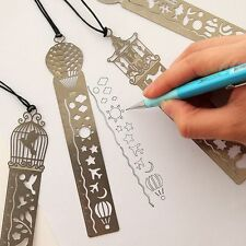 Fairy Tale Ultra-thin Creative Metal Tale Bookmark Rulers World