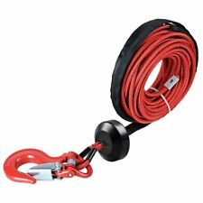 Red Synthetic Winch Rope Line Cable 14x50 7000 Lb Rock Guard Hook Stopper Kit