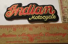 Vintage Indian motorcycle embroidered patch collectible old cycle biker emblem