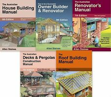 5 Pack Allan Staines  House Building, Owner Builder & Renovator, Decks, Roof