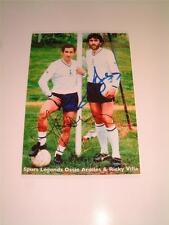 Tottenham Hotspur FC Ossie ARDILES Ricky Villa firmato (pre-Printed) Fotografia