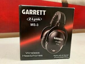 Garrett MS-3 Z-Lynk Wireless Headphones for Garrett Metal Detectors 1627710 New
