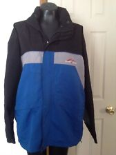 Suisse Sport  Windbreaker sz XL Lightweight Jacket  blue/black/gray