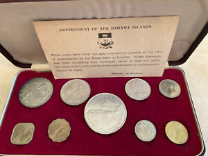 1966 Bahamas Proof Set plus COE      9 Coin Set  4 Silver Lot1AB