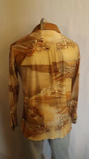 Very Cool Mod Disco Shirt Hillside Architectural Print by Kennington sz L  NICE