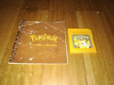 Nintendo Gameboy Pokemon Yellow Speical Pikachu Edition Game + trainers guide