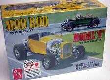 """AMT 1/25 """"Mod Rod"""" 1929 Ford Model A Roadster 1002 PLASTIC MODEL KIT builds 2"""