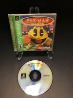 Pac-Man World Greatest Hits (Sony PlayStation PS1) CIB, Tested, FREE SHIPPING!