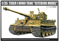 "1/35 Tiger 1 WWll Tank ""Exterior Model"" #13264 Academy HOBBY MODEL KITS"