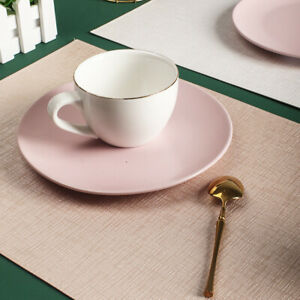 Placemat Sets Double-layer Placemats Leather Rectangular Table Mats Waterproof