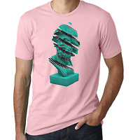 Vaporwave Ancient Sliced Statue Dope Pink Printed Cotton Men's T-shirt Top Tee