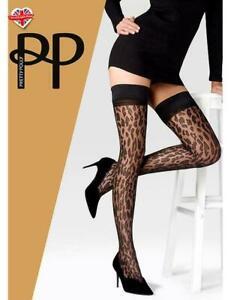 Pretty Polly Hold Ups  Animal Print   Black