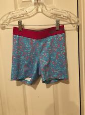 Nike Pro Women Size M Athletic Core Compression Spandex Short Pink Mermaid Print