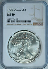 1992 American Silver Eagle / NGC MS69 / Top Rated
