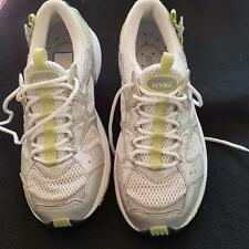 Ryka Tri Trainer Women's Sneaker White Celery Lace-up Shoes Size 6.5M