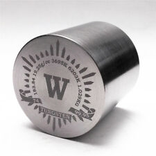 1Kg Finish Turning Tungsten Metal Cylinder 41×41mm 99.95% Engraved PeriodicTable