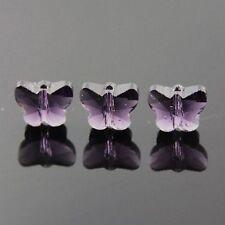 6pcs Swaro/vski  5x6x10mm Butterfly Crystal beads A Violet