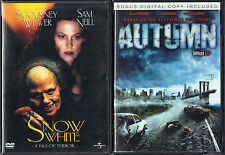 Snow White: A Tale of Terror (DVD, 2002) & Autumn (DVD, 2010) 2 Horror Movies