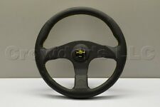 Nardi Personal Neo Actis Steering Wheel - 330mm - Black Leather - Yellow Stitch