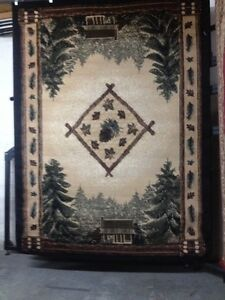 Cabin In The Woods Lodge Pinecone  Room size Rug For The Home 5X8