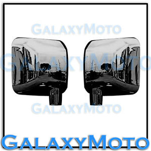 Triple Black Chrome plated Full Mirror Cover a pair fit 07-18 Jeep Wrangler JK