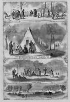 CIVIL WAR HISTORY ELLSWORTH NEW YORK FIRE ZOUAVES CAMP TENTS COOKING RATIONS