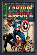 CAPTAIN AMERICA ISSUE #100 13x19 FRAMED GELCOAT POSTER MARVEL COMICS VINTAGE FUN