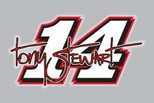 Tony Stewart Graphic Vinyl Decal #14 NASCAR Decal Stewart-Haas Racing